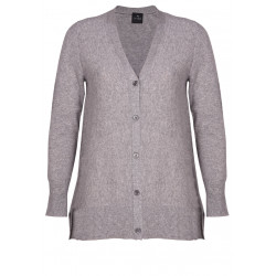 100% CASHMERE CARDIGAN dark grey