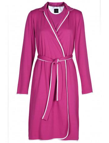 ESSENTIEL 660 100% cotton sky blue wrap-over dressing gown