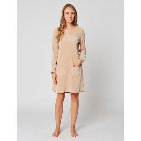 Robe homewear en velours BOYFRIEND 940 Miel
