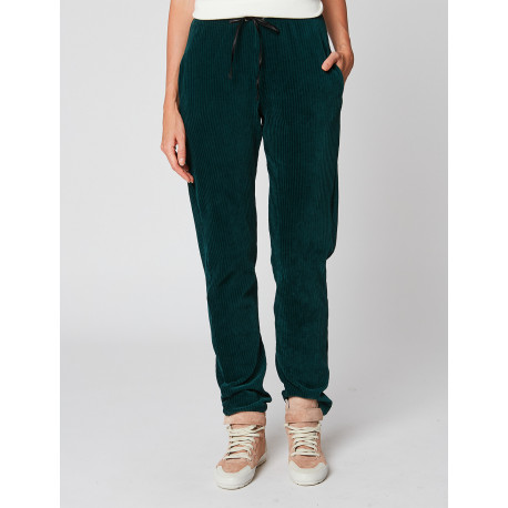 Pantalon homewear en velours BOYFRIEND 980 Emeraude