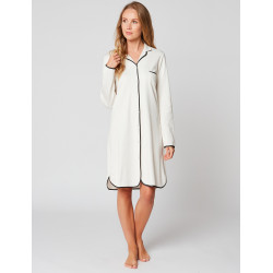 Button-down nightdress 100% cotton ESSENTIEL ESSENTIEL H05A Ecru