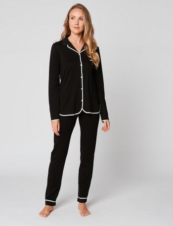Pyjama boutonné en coton ESSENTIEL H06A Noir