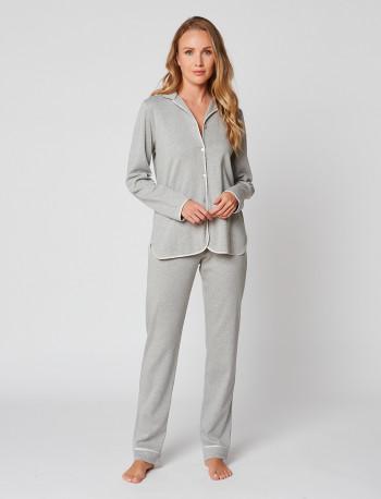 Button-down pyjamas 100% cotton ESSENTIEL H06A Gris