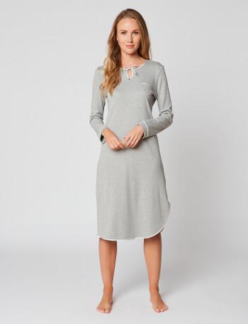 Long nightdress 100% cotton ESSENTIEL H21A Gris
