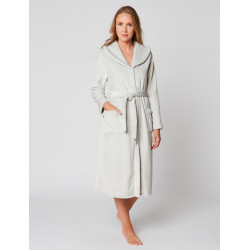 Fur Button-down dressing gown in ESSENTIEL H50A Brume