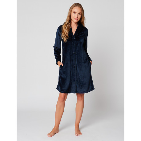 Fur Button-down dressing gown in ESSENTIEL H55A Marine