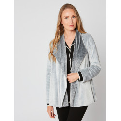 Fur draped loungewear jacket in ESSENTIEL H73A Gris