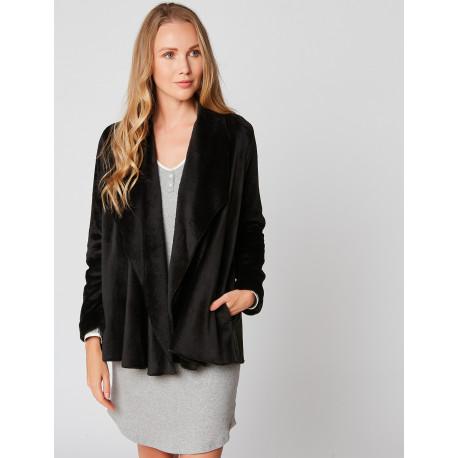Veste homewear en fourrure ESSENTIEL H73A Noir
