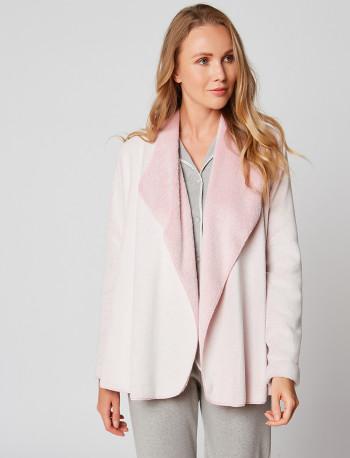 Veste homewear en fourrure ESSENTIEL H73A Rose chiné