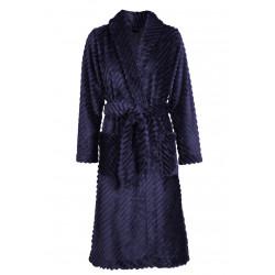 Wraparound robe in chenille fleece ESSENTIEL 964 Marine