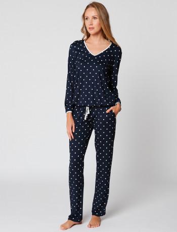 Pyjama à pois BELLAGIO 102 Marine