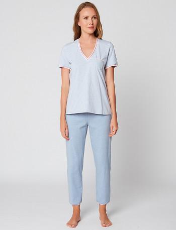 Pyjama pantacourt coton FARO 102
