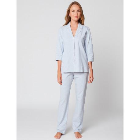 Pyjama boutonné coton FARO 106