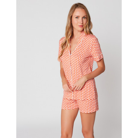 Pyjama short imprimé VITA 106 green