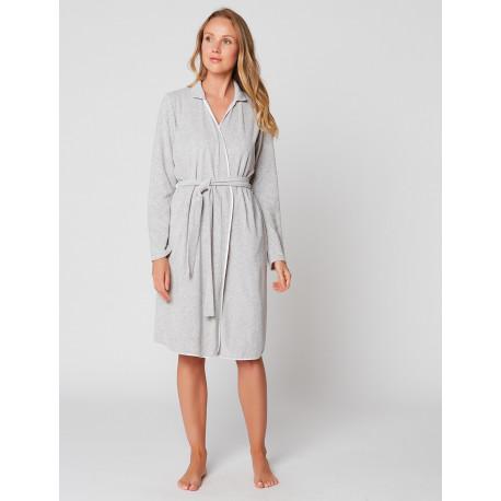 ESSENTIEL E61A terry cloth wrap-over dressing gown