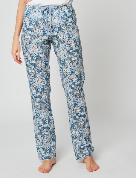 Pantalon en tissu Liberty 181 BLEU THORPE