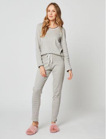 Pyjama coton PARESSE 202 Gris chiné