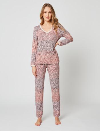 Pyjama imprimé ARIANE 202 Cannelle
