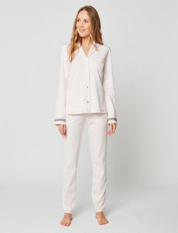 Pyjama boutonné COCOON 206 Rose chiné