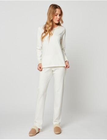 Pyjama en coton MAILLE LOVE 202 Ecru