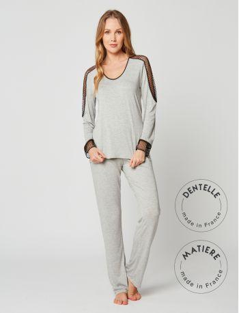 Pyjamas MOONLIGHT 202 Grey fleck