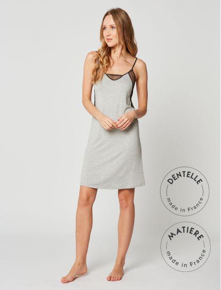 Babydoll nightdress MOONLIGHT 203 Grey Fleck