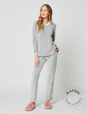 Microfleece pyjamas SWEET 202 Grey