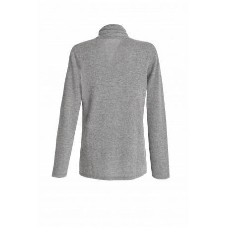 100% CASHMERE CARDIGAN light grey