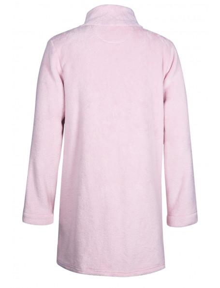 Veste homewear zippée en fourrure ESSENTIEL 374 bois de rose